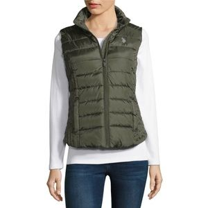 NWT US Polo Assn Quilted Vest w/ Side Slip Pockets